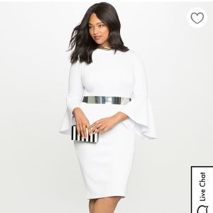Eloquii Flare Sleeve Scuba Dress NEVER WORN